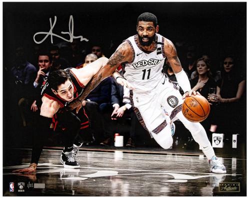 "KYRIE IRVING Autographed Nets ""Drive"" 16"" x 20"" Photograph PANINI LE 111"