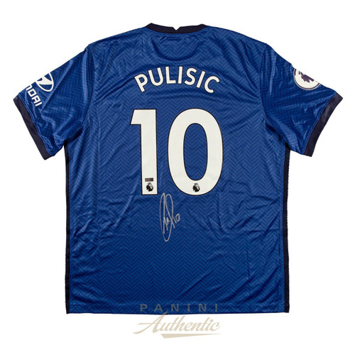 CHRISTIAN PULISIC Autographed Blue #10 Chelsea FC Jersey PANINI