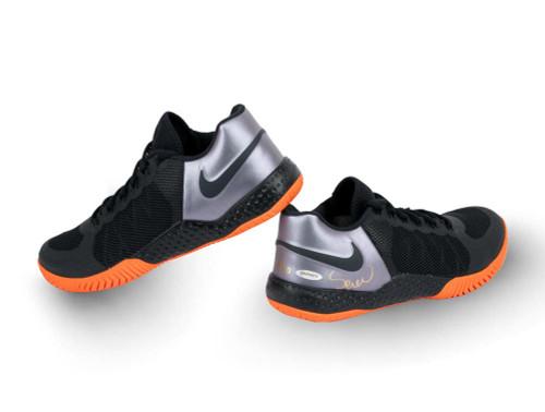 SERENA WILLIAMS Autographed NikeCourt Flare 2 Obsidian Shoes UDA