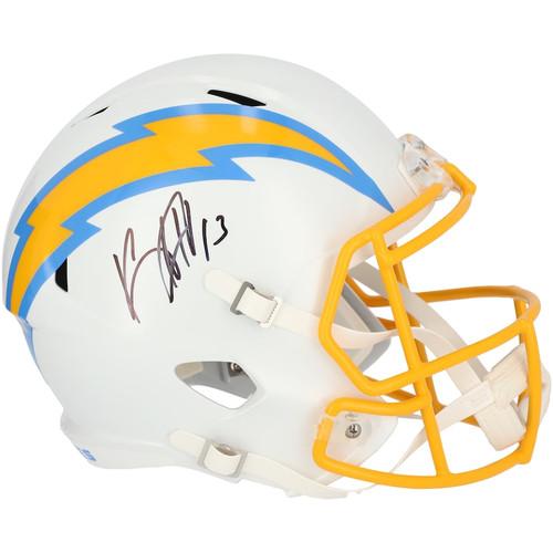KEENAN ALLEN Autographed Los Angeles Chargers Full Size Speed Helmet FANATICS