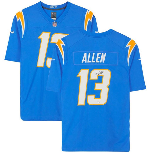 KEENAN ALLEN Autographed Los Angeles Chargers Blue Game Jersey FANATICS