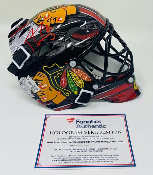 MARC-ANDRE FLEURY Autographed Blackhawks Mini Goalie Mask FANATICS