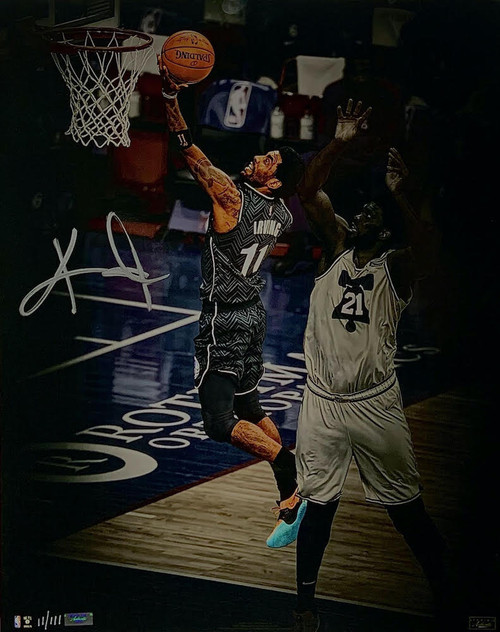 """KYRIE IRVING Autographed Nets """"Finger Roll"""" 16 x 20 Photograph PANINI LE 11/111"""