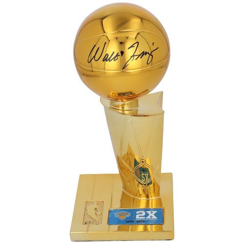WALT FRAZIER Autographed New York Knicks 2x Finals Champ Replica Trophy FANATICS