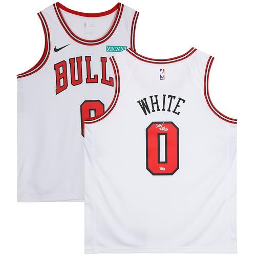 COBY WHITE Autographed Chicago Bulls White Swingman Jersey FANATICS