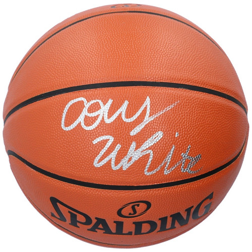 COBY WHITE Autographed Chicago Bulls Spalding Basketball FANATICS