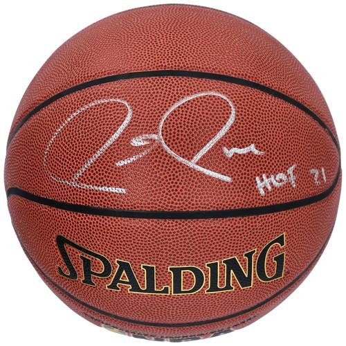 "PAUL PIERCE Autographed ""HOF 21"" Boston Celtics Spalding Basketball FANATICS"