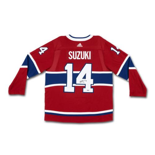 NICK SUZUKI Autographed Red Montreal Canadiens Jersey UDA