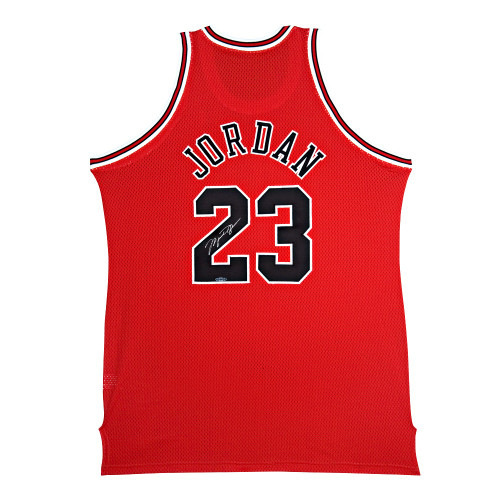 MICHAEL JORDAN Autographed Chicago Bulls Red 1997-98 Mitchell & Ness Authentic Jersey UDA