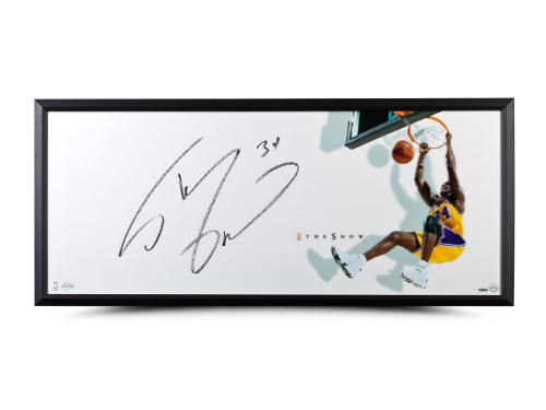 """SHAQUILLE O'NEAL AUTOGRAPHED """"THE SHOW"""" 46 X 20 FRAMED"""