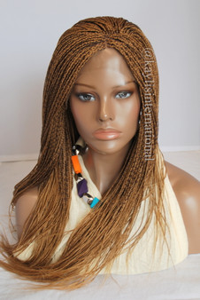 Fully hand braided lace front wig - Hannah color 27/4  in 20""