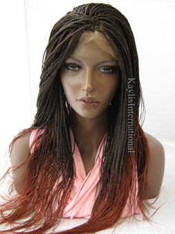 """Fully hand braided lace front wig - Hannah color Ombre 350  in 22"""""""