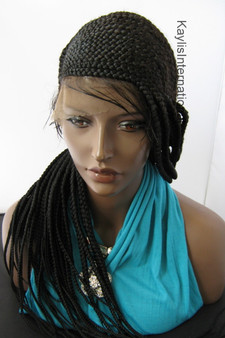Fully hand braided 360 lace wig Cornrow - Amber color 1 in 20""