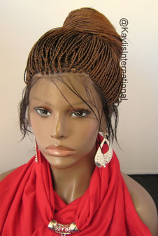 Fully hand braided Full  lace wig - Hannah color 30/4 in 22""