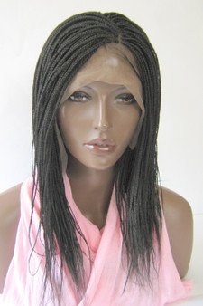 """Fully hand braided lace front wig -Micro Braids Hannah  Color #2 in 14"""""""