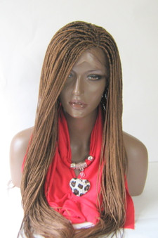 Fully hand braided lace front wig -Micro Braids Hannah  Color #30 in 20""