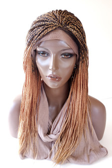 Fully hand braided lace front wig - Hannah color 27/4  in 16""