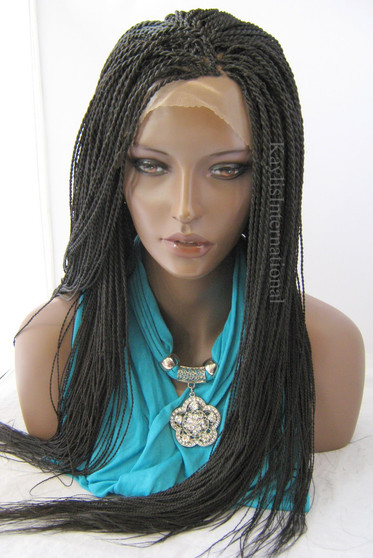 """Fully hand braided lace front wig - Hope Color #2 in 22"""""""