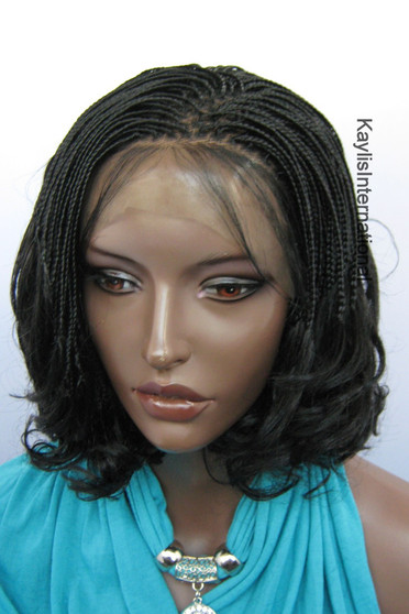 """Fully hand braided lace front wig - Linda color 1 in 6"""""""