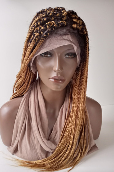 """13 x4  Fully hand braided lace front wig - Anita color #27/2  in 20"""""""