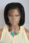 """Fully hand braided lace front wig - Short Bob Cornrow StacyA #1 in 6"""""""