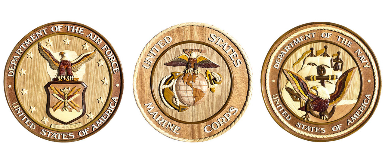 Aloha Wood Art Handcrafted Wooden Insignia Products