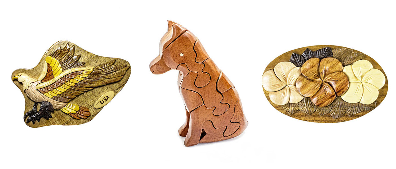 Aloha Wood Art Handcrafted Wooden Animal Puzzle Box Products