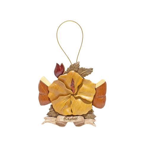 Hibiscus Ribbon Ornament