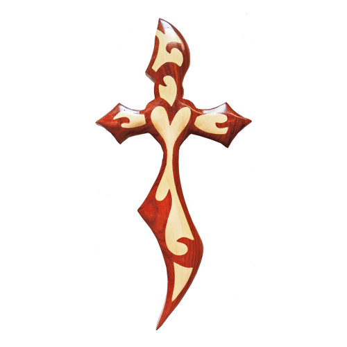 Fiery Heart Cross