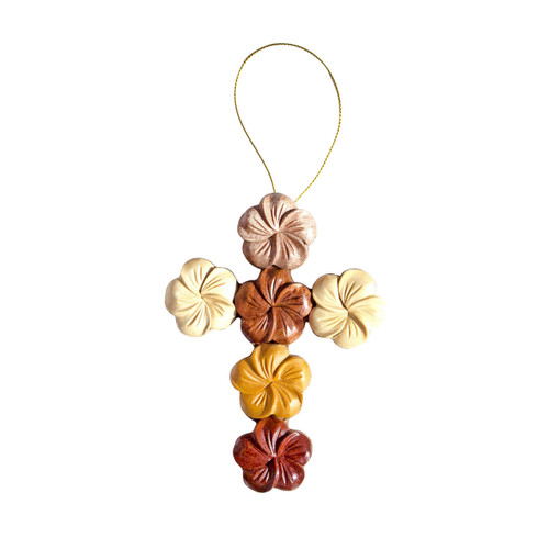 All Plumeria Cross - Ornament