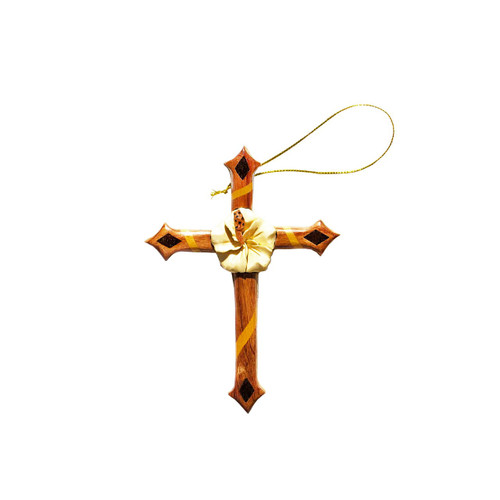 Hibiscus Cross - Ornament