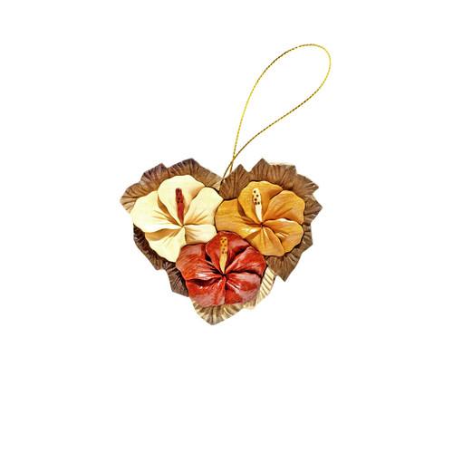 Hibiscus Heart - Ornament