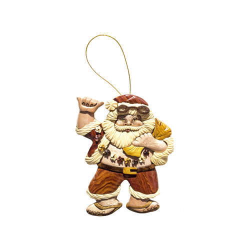 Hang Loose Santa - Ornament