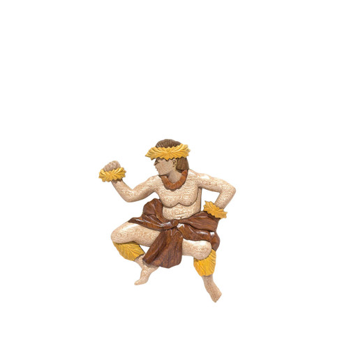 Male Hula Dancer - Magnet