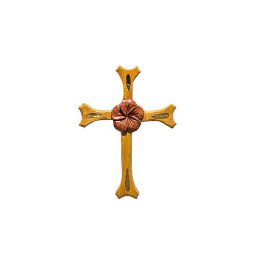 One Plumeria Cross - Magnet