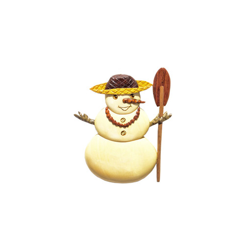 Hawaiian Snowman - Magnet