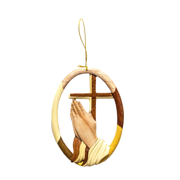 Praying Hands Traditional Cross - Ornament