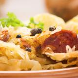 Sauerkraut & Kielbasa Skillet (with Apple & Onion)