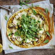 Marinated Mushroom Flatbread Pizza
