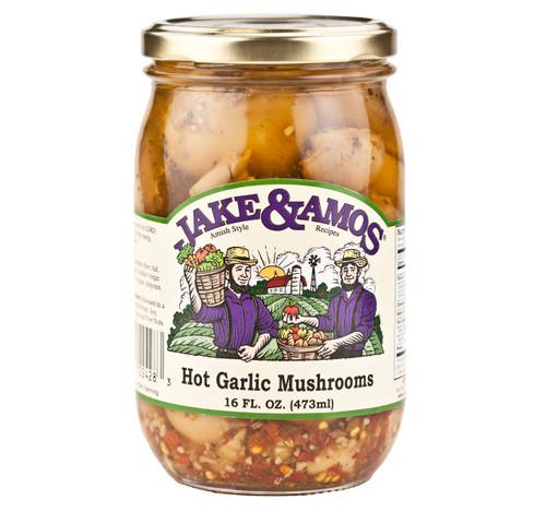 Hot Garlic Mushrooms 16oz