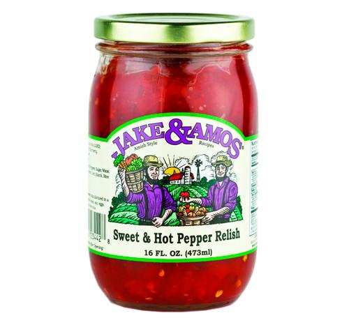 Hot/Sweet Pepper Relish 16oz