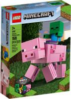 LEGO 21157 Minecraft BigFig Pig with Baby Zombie (Retired)