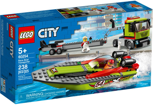 LEGO 60254 City Great Vehicles Race Boat Transporter (Retired)