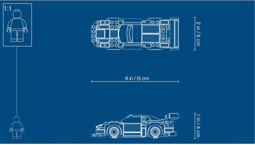 LEGO 75888 Speed Champions Porsche 911 RSR and 911 Turbo 3.0