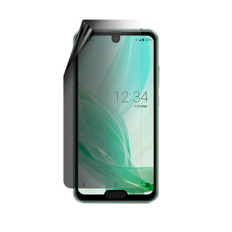 Sharp Aquos R2 Compact Privacy Lite Screen Protector
