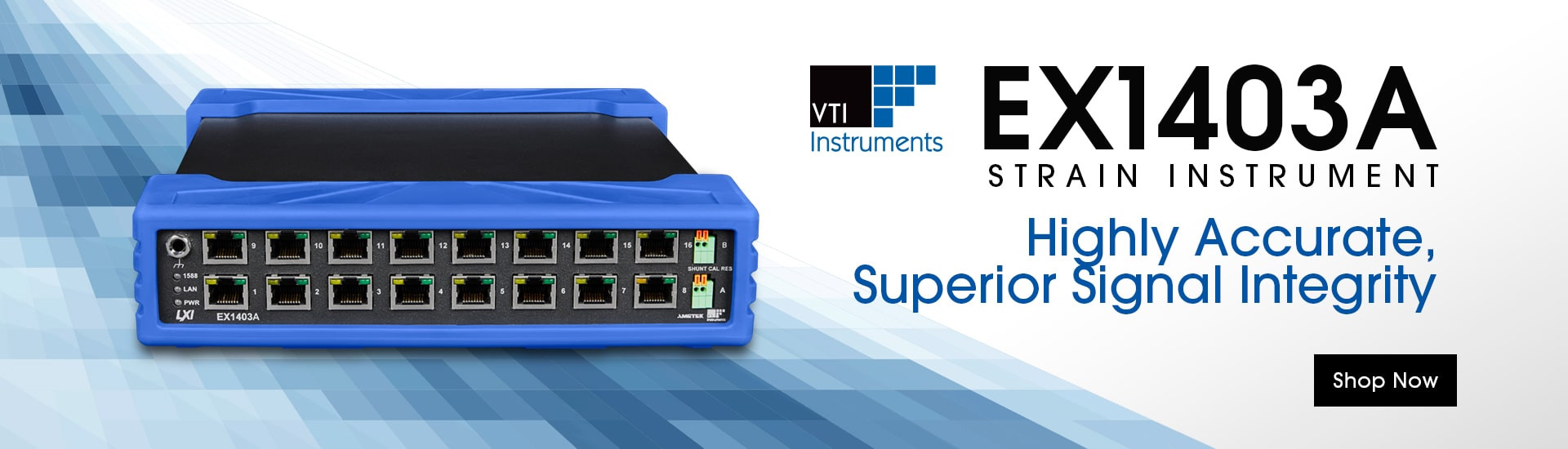VTI Instruments EX1403A Strain Instrument: Highly Accurate, Superior Signal Integrity. Shop Now.