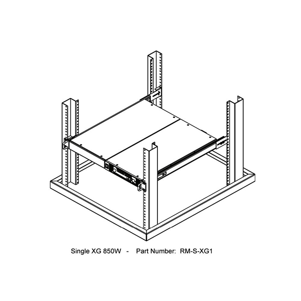 XG 850 Series Single Rackmount Unit Kit