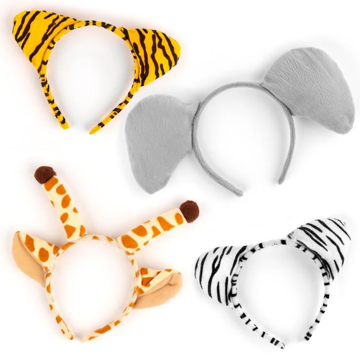 Zoo Animal Headbands - 12 Pieces