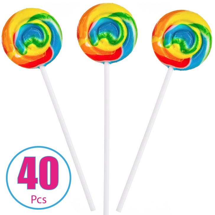 Rainbow Swirl Pop - Tutti Fruity 40 Pieces