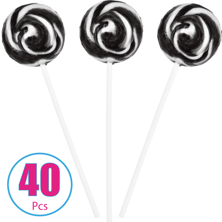 Black and White Swirl Pop - 40